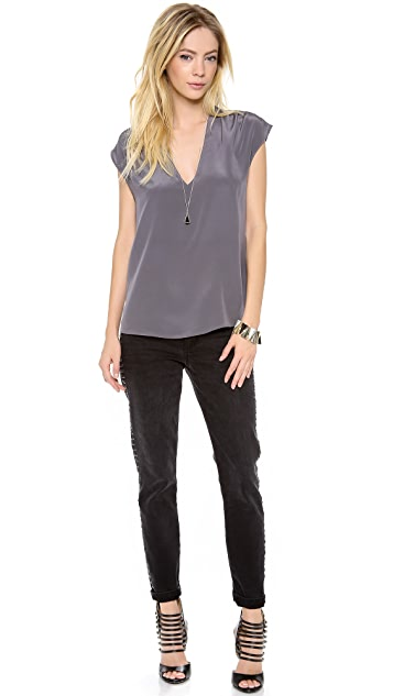Rory Beca Valentine V Neck Shirred Top