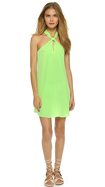 Shop Rory Beca online and buy Rory Beca Front Keyhole Silk Dress Midori dresses online