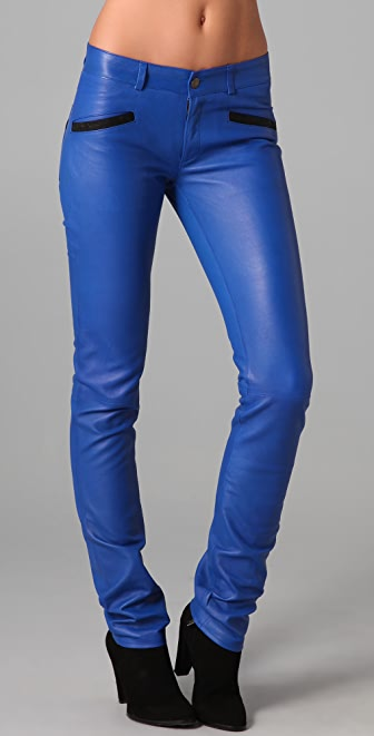 Roseanna Nash Slim Leather Pants