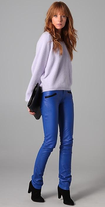 Roseanna Nash Slim Leather Pants