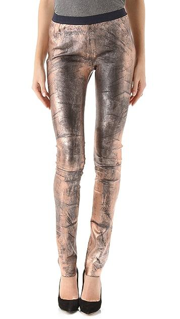 Roseanna Bones Leather Pants