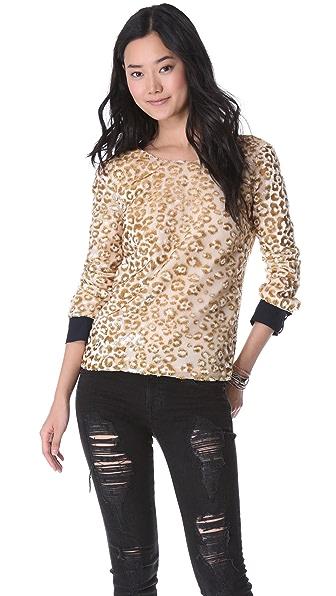 Roseanna Terry Leopard V Back Blouse