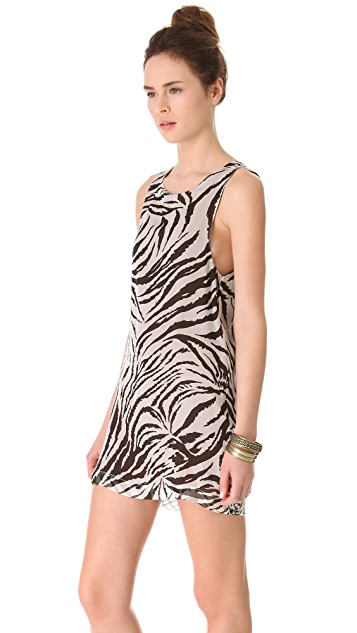 Roseanna Rod Reversible Tiger Tank Dress