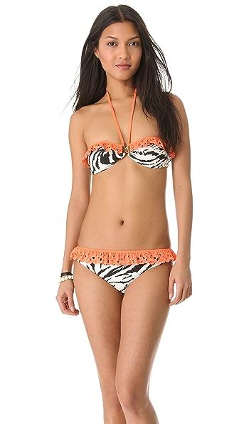 Roseanna Patchwork Record Ruffle Bikini Top