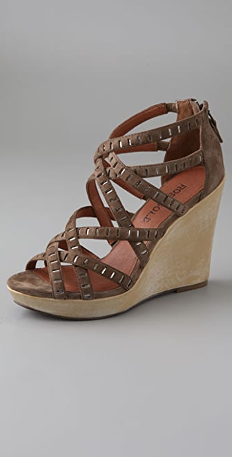 ROSEGOLD Candy Suede Wedge Sandals