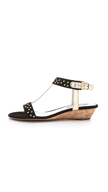 ROSEGOLD Louis Studded Wedge Sandals