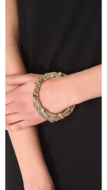 Rose Pierre Banyan Tree Bark Bangle