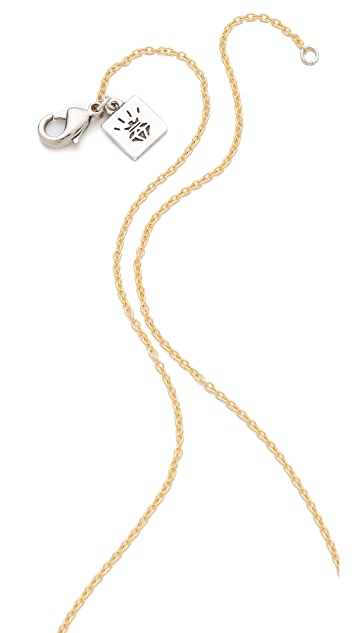Rose Pierre Triton Pendant Necklace