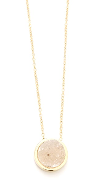 Rose Pierre Sparking Sea Pendant Necklace