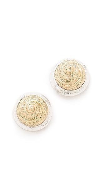 Rose Pierre Harp Seashell Earrings