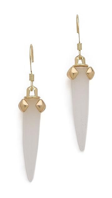 Rose Pierre White Sand Castle Earrings
