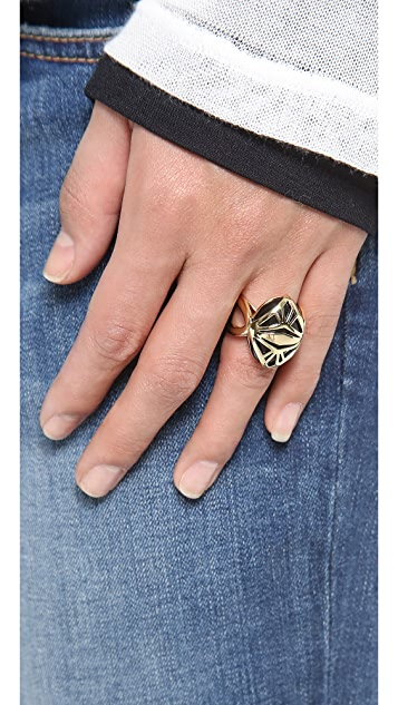 Rose Pierre Dining in Deco Ring