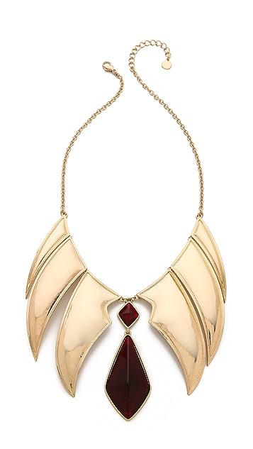 Rose Pierre Chandelier Collar Necklace