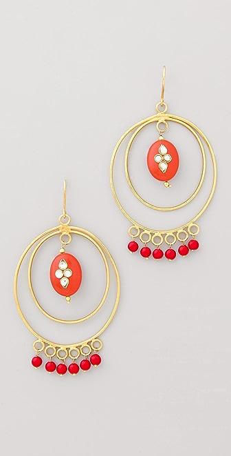 Rosena Sammi Jewelry Kundan Hoop Earrings