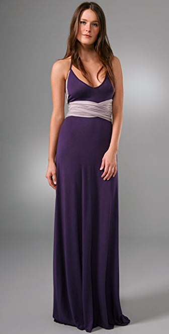 Rachel Pally Long Two Tone Halter Dress