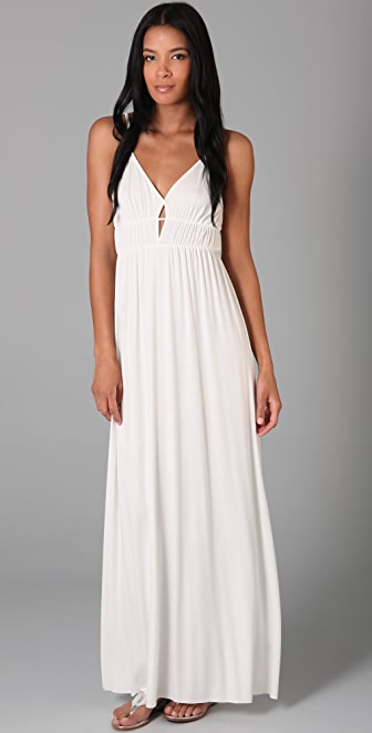 Rachel Pally Diamond Keyhole Long Dress