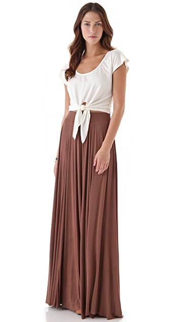Rachel Pally Seamed Rib Maxi Skirt
