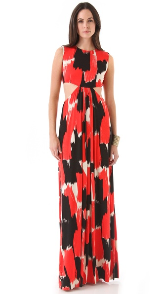 Rachel Pally Hope Print Cutout Maxi Dress
