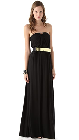 Rachel Pally Ida Strapless Dress with Metal Belt