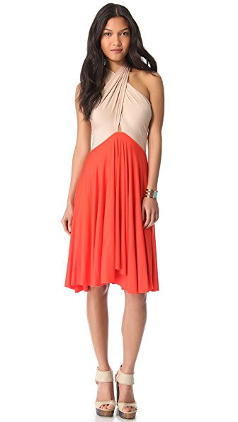 Rachel Pally Full Tie Two Tone Dress