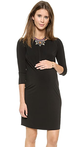Rosie Pope Audra Maternity Dress - Black