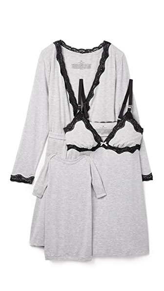 Rosie Pope Nursing Slip, Wrap & Baby Gown Set