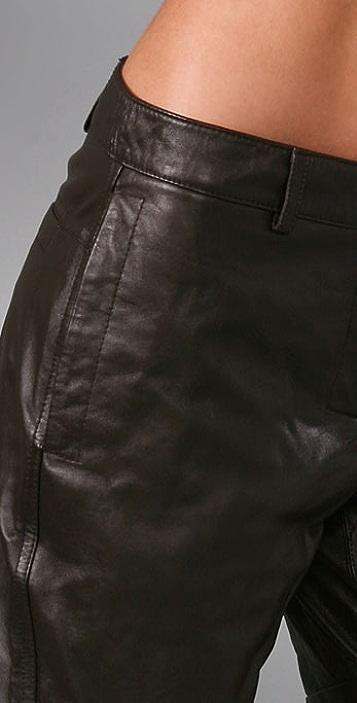 Robert Rodriguez Leather Shorts
