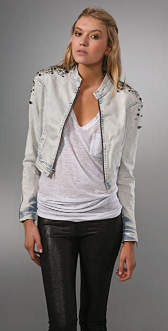 Robert Rodriguez Beaded Denim Jacket