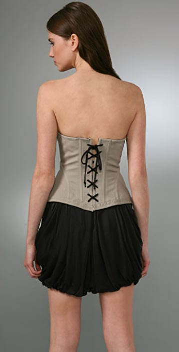 Robert Rodriguez Twill Corset Top