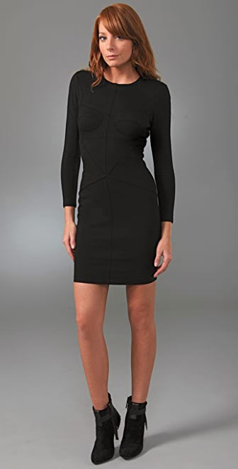Robert Rodriguez Seamed Ponte Dress