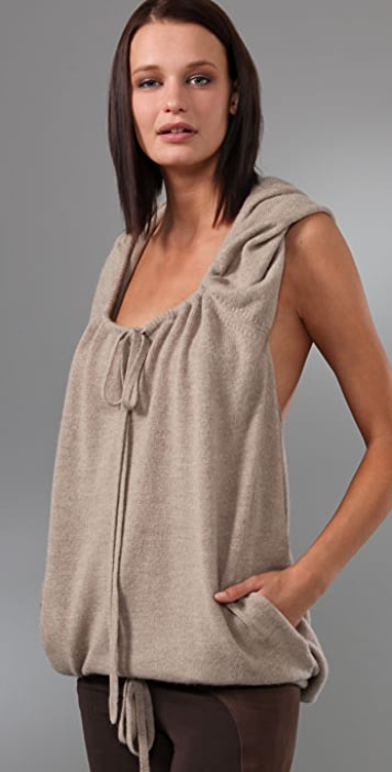 Robert Rodriguez Draped Back Hooded Sweater