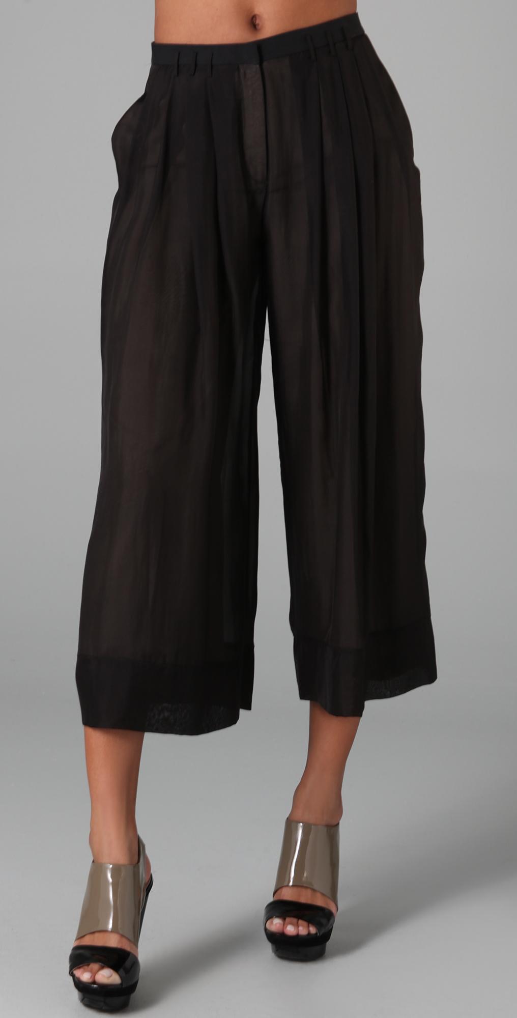 Chiffon Gaucho Pants
