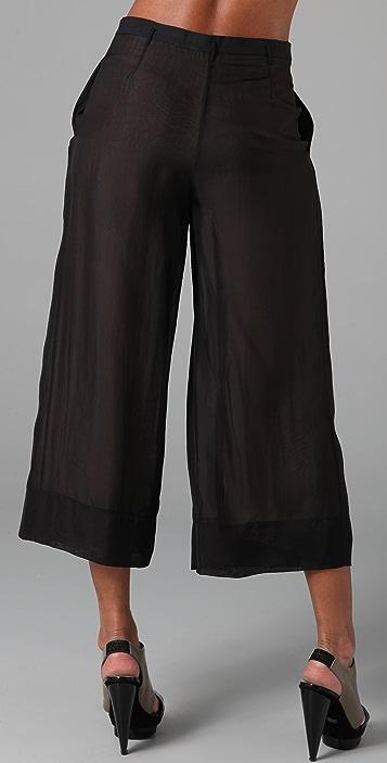 Robert Rodriguez Chiffon Gaucho Pants