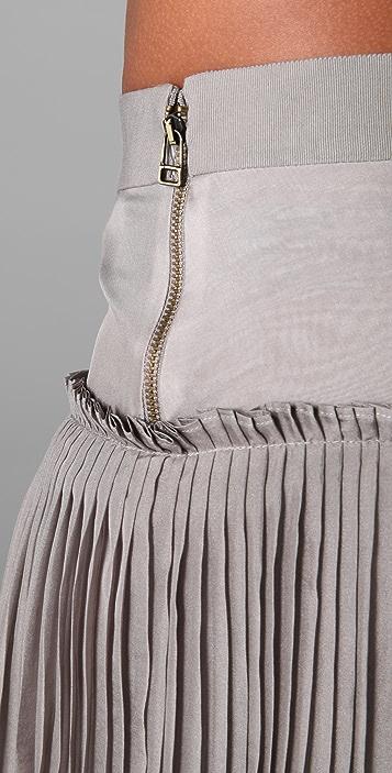 Robert Rodriguez Chiffon Pleated Long Skirt