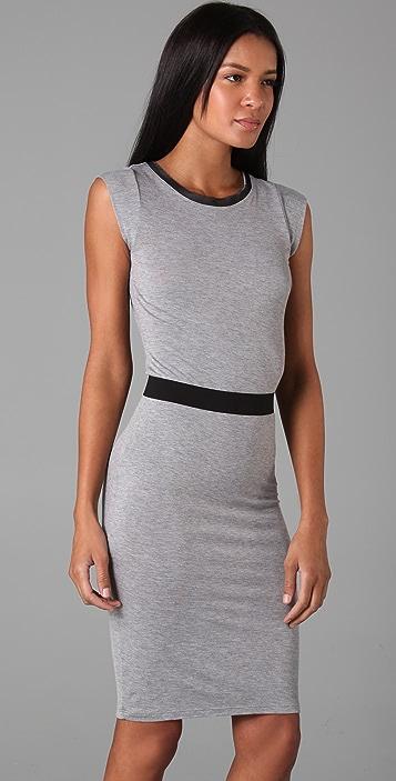 Robert Rodriguez Jersey & Chiffon Dress