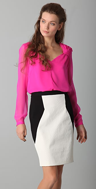 Robert Rodriguez Bow Shoulder Blouse