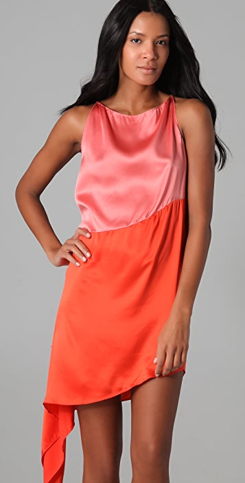 Robert Rodriguez Colorblock Cascade Dress