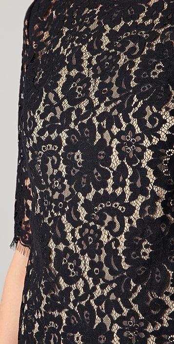 Robert Rodriguez Lace Shift Dress