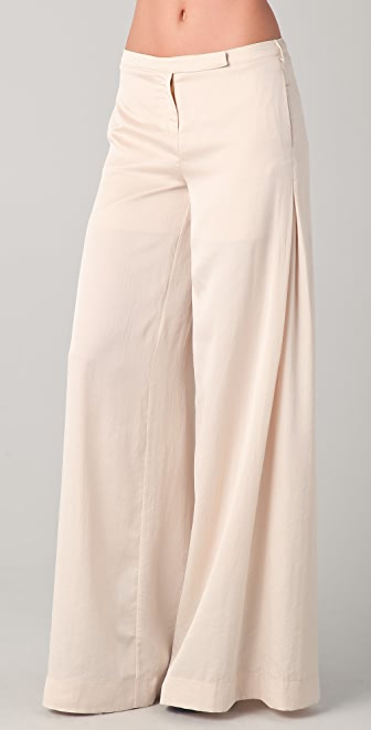 Robert Rodriguez Side Pleat Wide Leg Trousers