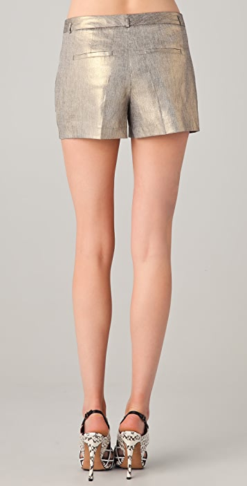 Robert Rodriguez Gold Shorts