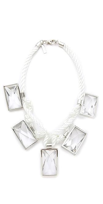 Robert Rodriguez Woven Rope & Crystal Collar