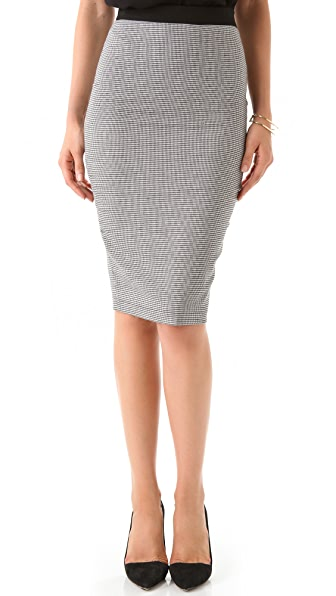 Robert Rodriguez Houndstooth Pencil Skirt
