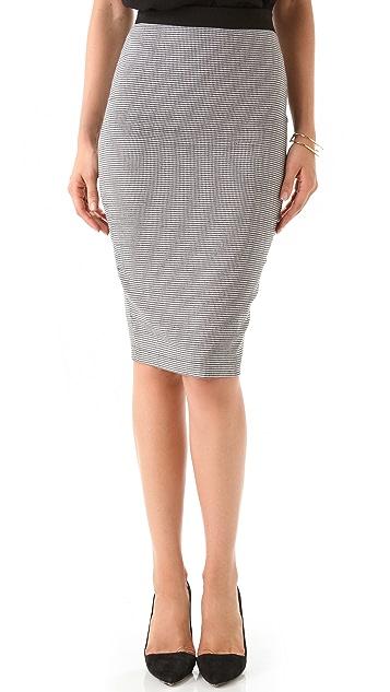 Robert Rodriguez Houndstooth Pencil Skirt