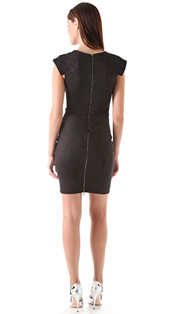 Robert Rodriguez Ultrasuede Bodycon Dress