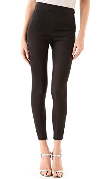 Robert Rodriguez High Waist Ultrasuede Leggings