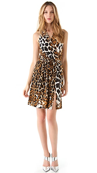 Robert Rodriguez Leopard Jersey Dress