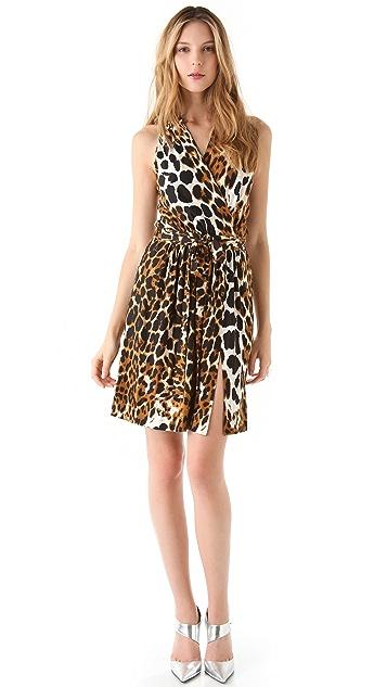 Robert Rodriguez Leopard Jersey Dress