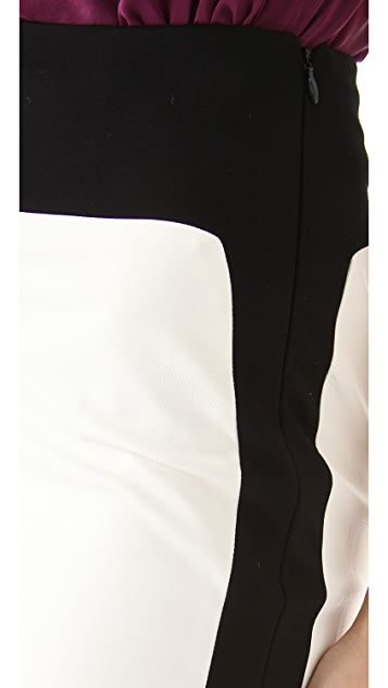 Robert Rodriguez Leather Pencil Skirt