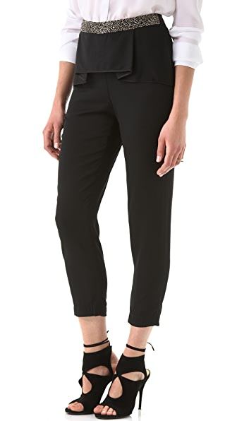 Robert Rodriguez Folded Pleat Beaded Trouser