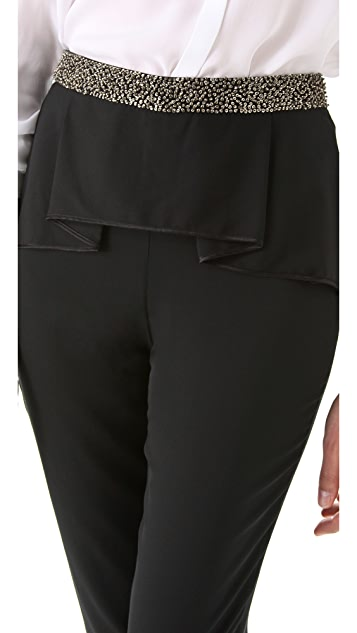 Robert Rodriguez Folded Pleat Beaded Trouser